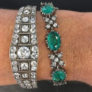 Antique Georgian Emerald & Diamond Paste Bracelet